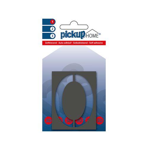 Pickup kleefcijfer 0 Home 3D Milan 60mm grijs