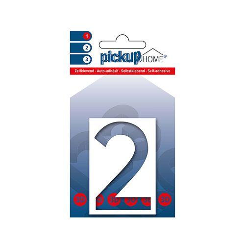 Pickup kleefcijfer 2 Home 3D Milan 60mm wit