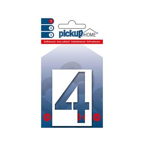 Pickup kleefcijfer 4 Home 3D Milan 60mm wit