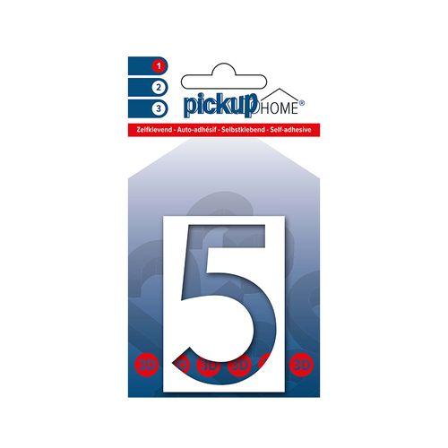 Pickup kleefcijfer 5 Home 3D Milan 60mm wit