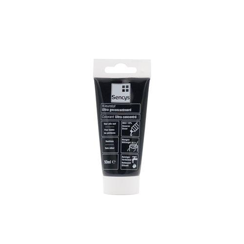 Ultra geconcentreerde kleurstof voor verf Sencys zwart 50ml