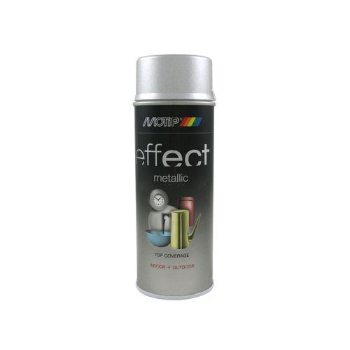 Peinture métallique MoTip Deco Effects argent brillant 400 ml