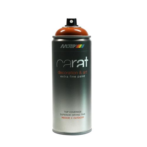 MoTip Carat verf spuitbus hoogglans oranje-bruin 400ml