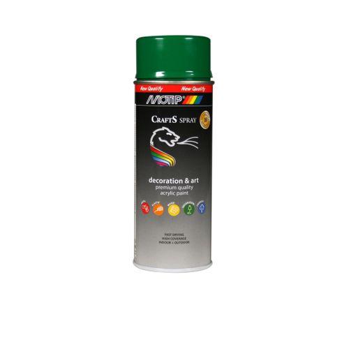 Peinture en spray MoTip Deco Colors vert feuillage brillant 400 ml