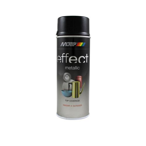 MoTip Deco Effects metallic verf zwart 400ml