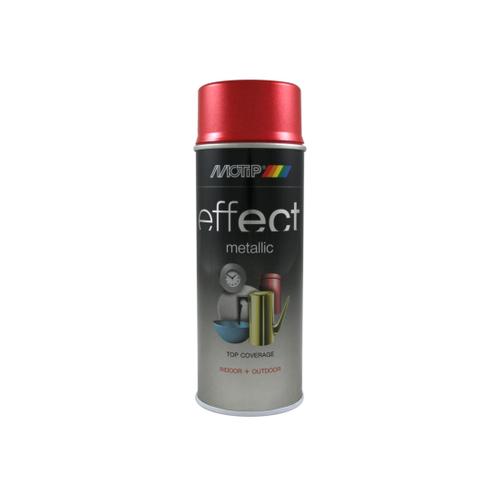 MoTip Deco Effects metallic verf rood 400ml