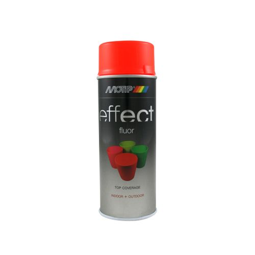 Peinture fluorescente MoTip Deco Effects rouge-orange 400 ml