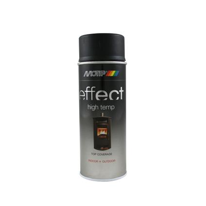 Laque MoTip 'Effect' noir haute température mat 400ml