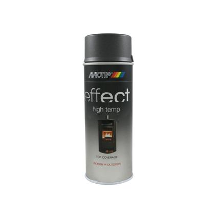Laque MoTip 'Effect' anthracite foncé haute température mat 400ml