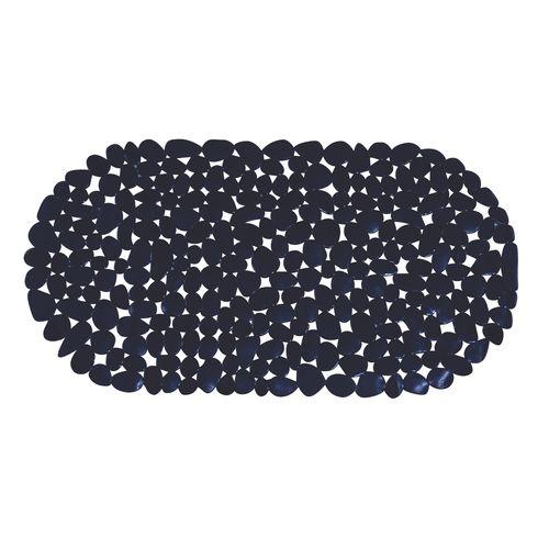 Tapis antidérapant MSV Galets noir 36x69cm