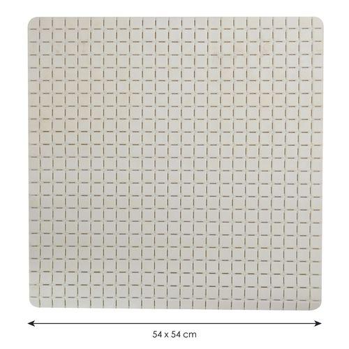 Tapis antidérapant MSV Quadro blanc 54x54cm