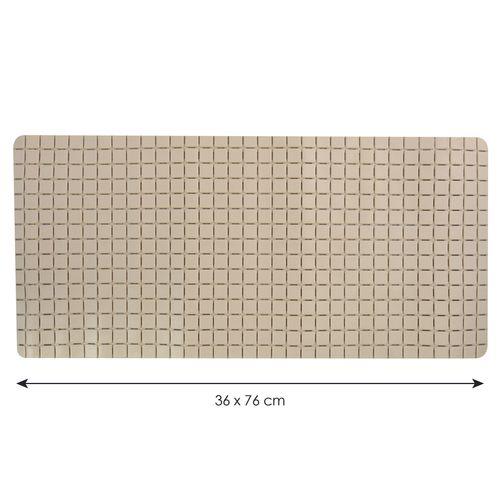 Tapis antidérapant MSV Quadro beige 36x76cm