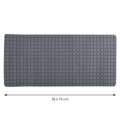 Tapis antidérapant MSV Quadro gris 36x76cm