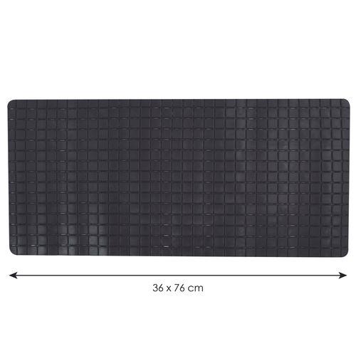 Tapis antidérapant MSV Quadro noir 36x76cm