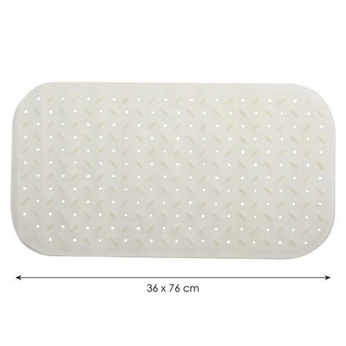 Tapis antidérapant MSV Classic blanc 36x76cm