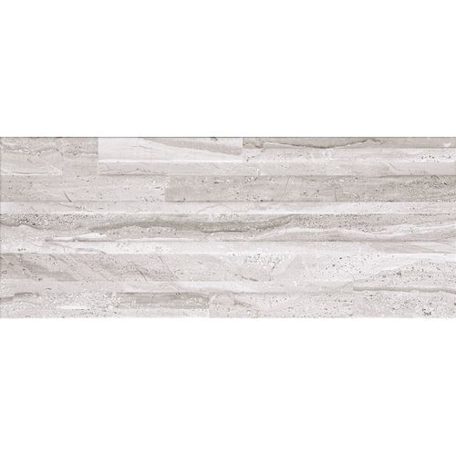 Carrelage mur Opera Travertino Lucido céramique gris brillant 20x50cm 1,7m²