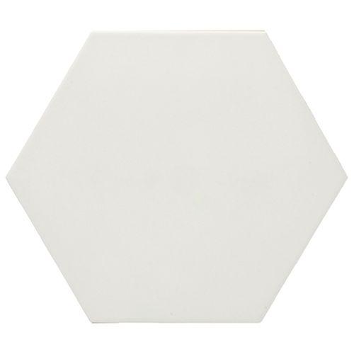 Wand- en vloertegel Esagono bianco 25x29cm