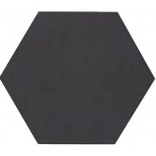 Wand- en vloertegel Esagono zwart 25x29cm