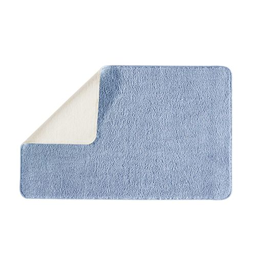 Future home badmat Polynesie indigo blauw 50x80cm polyester