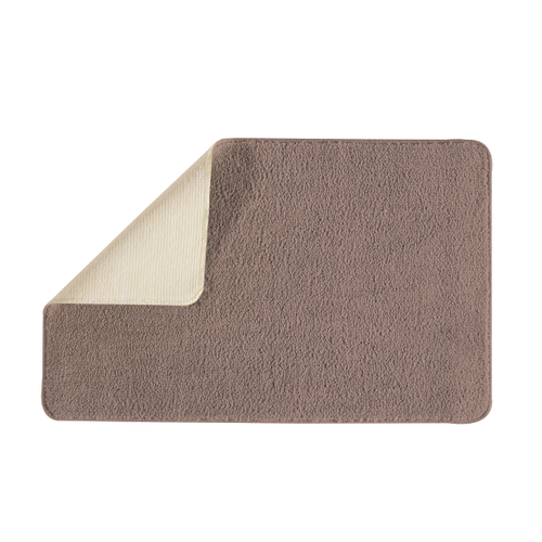 Future home badmat Polynesie taupe 50x80cm polyester