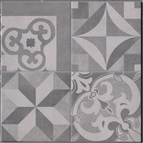 Wand- en vloertegel Cementina grijs 34x34cm