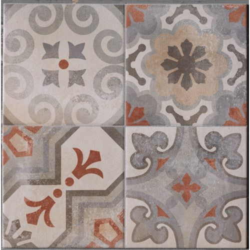 Tegel Cementina Rosso Mix 34x34cm 1,62m²