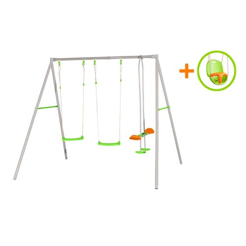 Portique de jeu Axion Paul avec siège bébé 260x214x220cm