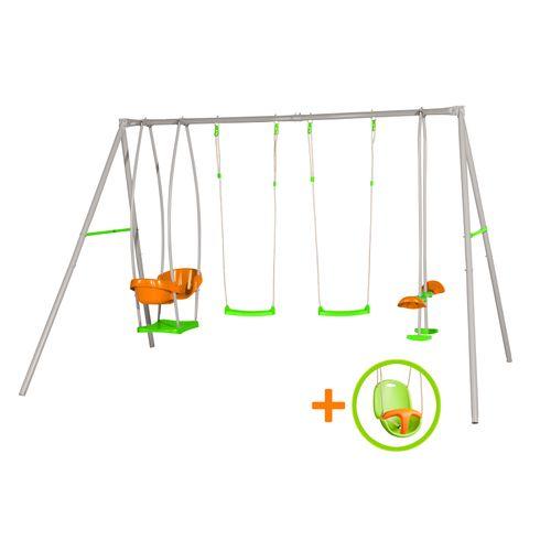 Portique de jeu Axion Luca avec siège bébé 336x214x220cm