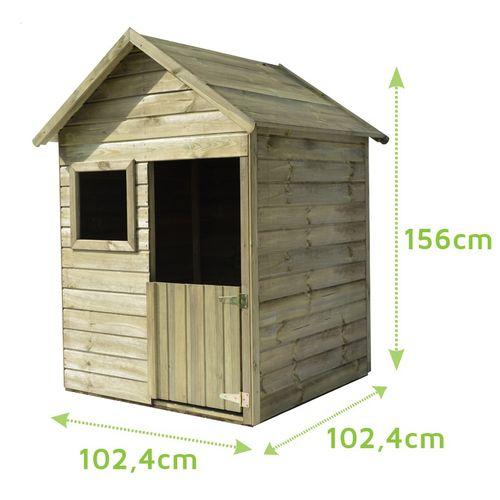 Maisonnette en bois pour enfant Emy 102x102x156cm