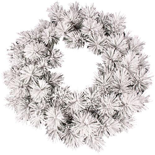 Couronne de Noël Oregon neige 45cm