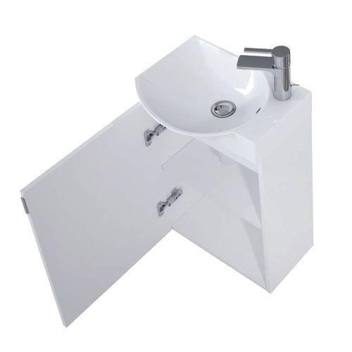 Pack lave-mains AquaVive Ravel blanc 45cm