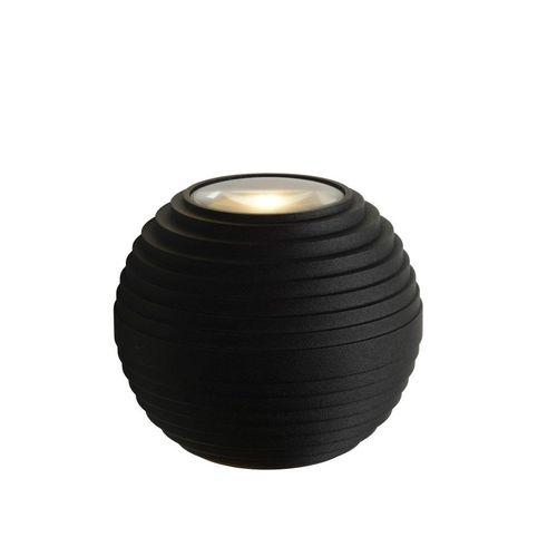 Lucide wandverlichting LED Ayo zwart 2x6W