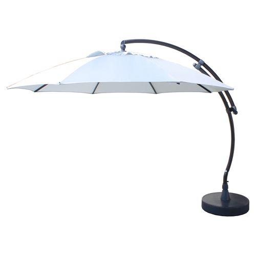 Sungarden parasol Easy Sun XL lichte grijs + voet