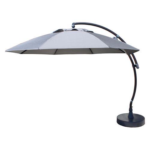 Parasol Sungarden Easy Sun XL gris titanium + pied