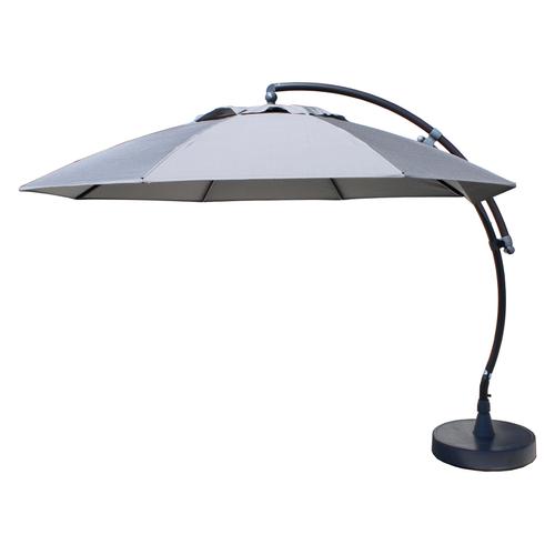 Sungarden parasol Easy Sun XL grijs titanium + voet