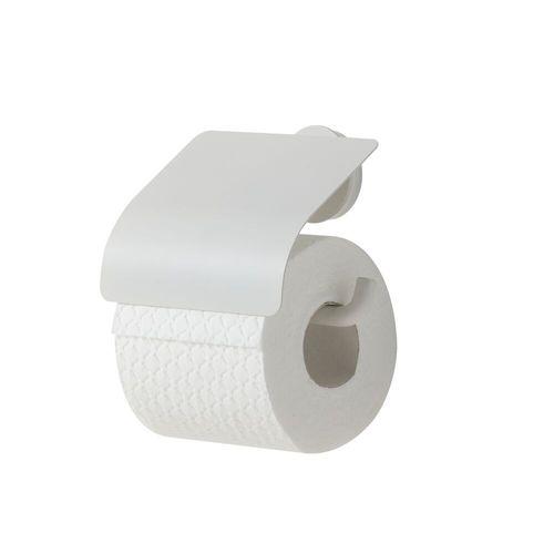 Porte-papier de toilette + couvercle Tiger Urban blanc mat à suspendre