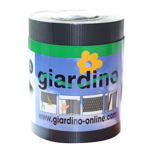 Giardino vlechtband met clips grijs 19cm