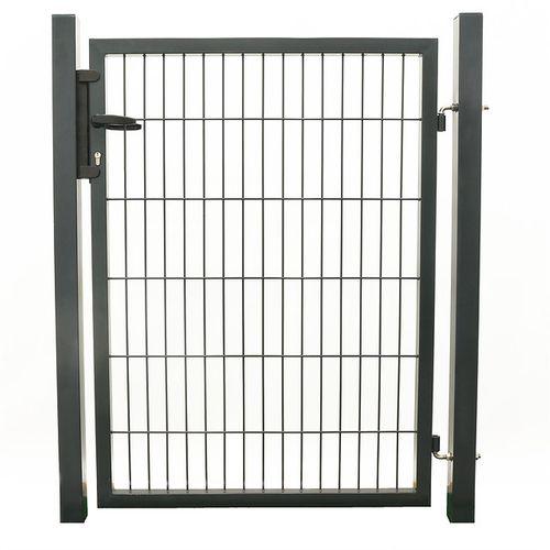 Giardino enkele poort zwart 100x120cm