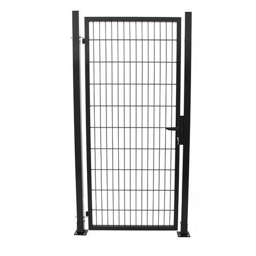 Giardino enkele poort zwart 100x200cm