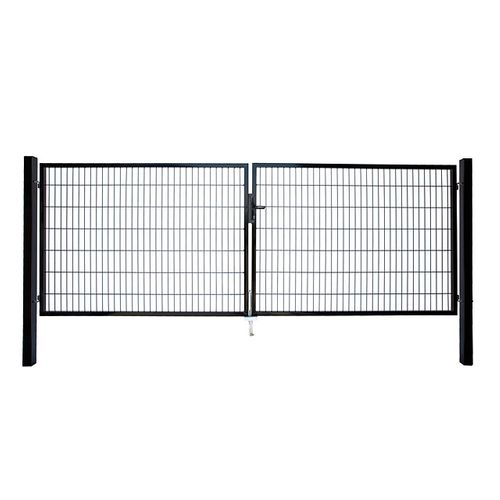 Giardino dubbele poort zwart 140x200cm