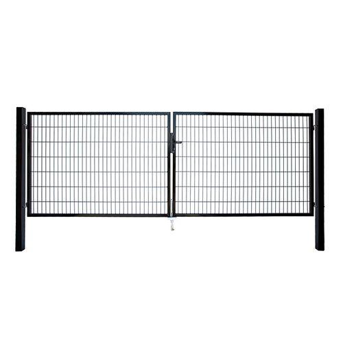 Giardino dubbele poort zwart 200x200cm
