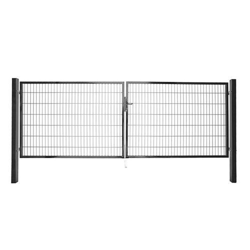 Giardino dubbele poort grijs 180x200cm
