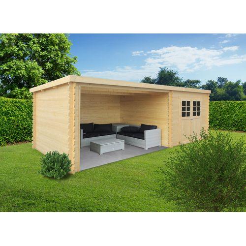 Solid tuinhuis Rohan geïmpregneerd hout 298x665cm