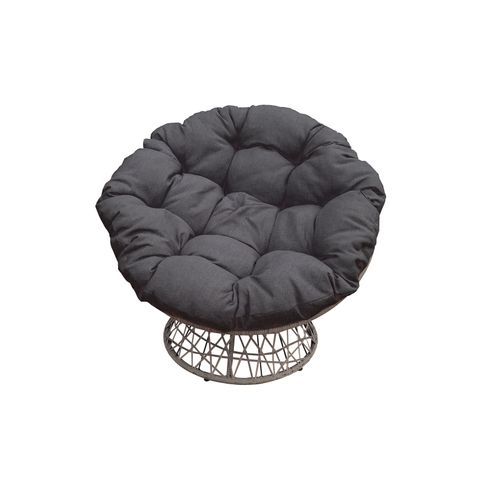 Chaise pivotante 'Albury' + coussins 96x84x96cm