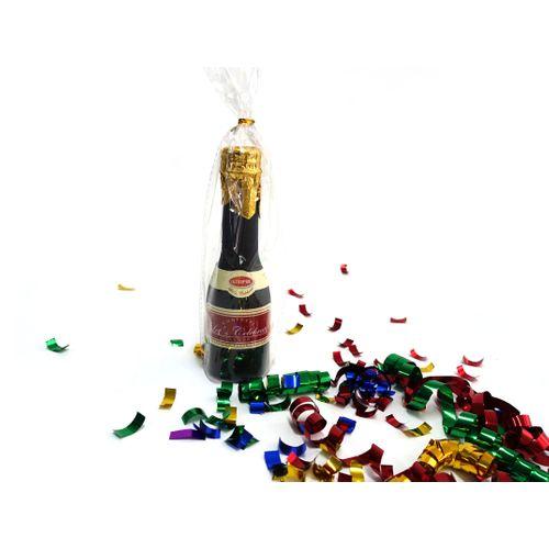 Mini bouteille à confettis 16cm