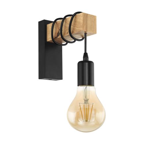 Eglo wandlamp Townshend zwart 10W