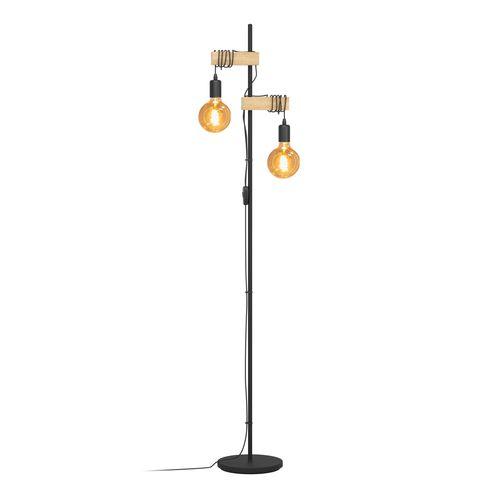 EGLO vloerlamp Townshend hout 2xE27