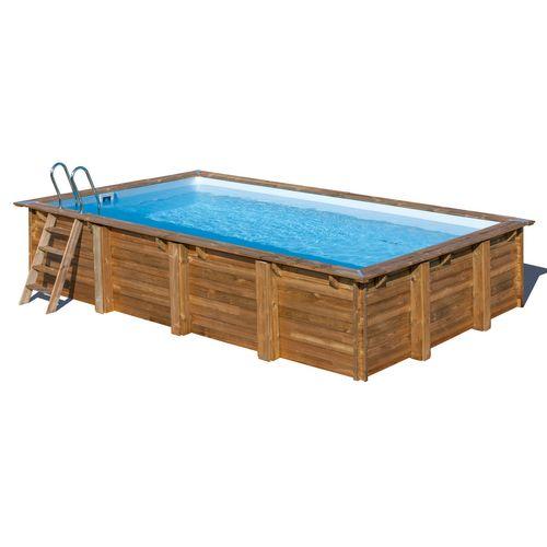 Gre opzetwembad Loire grenen rechthoek 600x400x133cm