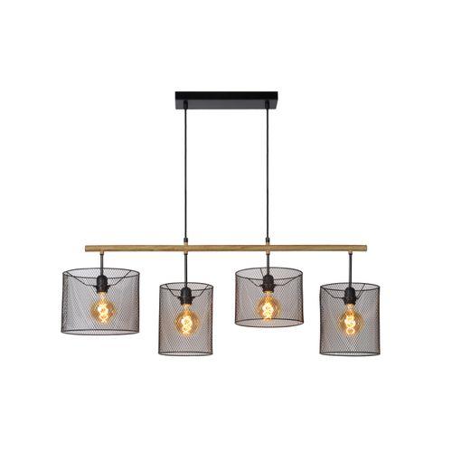 Lucide hanglamp Baskett zwart 4x60W
