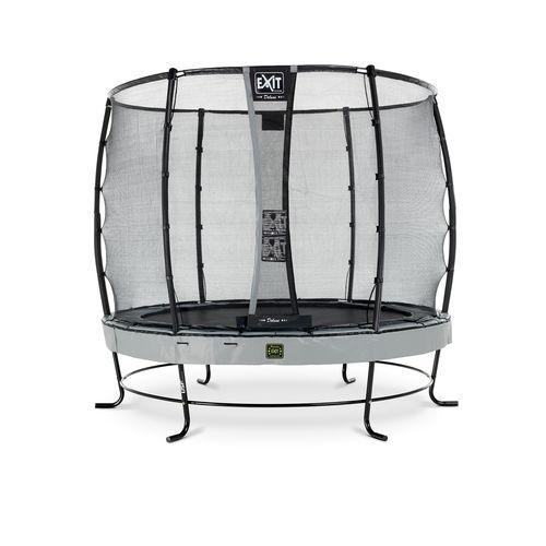 Exit trampoline Elegant Premium + veiligheidsnet Deluxe ø253cm grijs